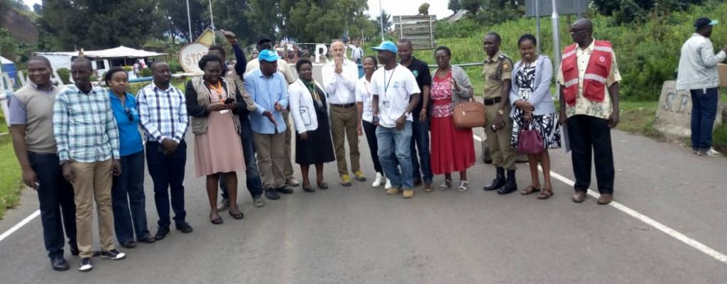The UNHCR representative to Uganda at Bunagana Border in Kisoro District